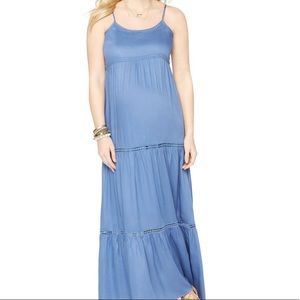 NWOT motherhood maternity tiered maxi dress